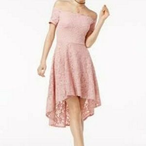 City Studio off the shoulder fit and flare dress